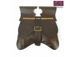 PS-44 Medieval Purse 14-15th cent. - very dark brown