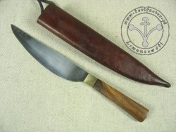 KS-008 Medieval knife with wooden handle