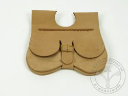 "PS-46A Two-panel medieval purse ""Engelbrecht"" 15th cent. - natural light brown"