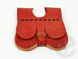 "PS-46A Two-panel medieval purse ""Engelbrecht"" 15th cent. - red"