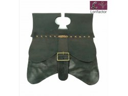 PS-44 Medieval Purse 14-15th cent. - very very dark brown