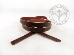 R-02 Leather belt - plain - 1,3 cm - dark brown
