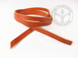 R-07 Leather belt - plain - 1,5 cm - light brown