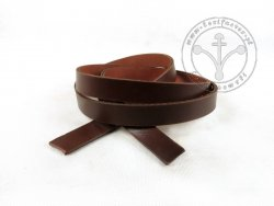 R-14 Leather belt - plain - 1,7 cm - dark brown
