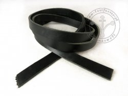 R-16 Leather belt - plain - 1,7 cm - black