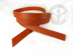 R-19 Leather belt - plain - 2 cm - light brown