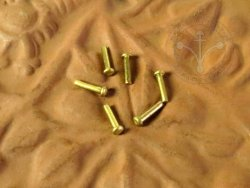 Rt-42 Brass rivet 1,4x6,5 mm