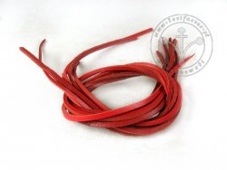 R-62 Leather strap - thick - red