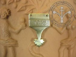 "S-023 Medieval strapend from London with ""IHC"" monogram"