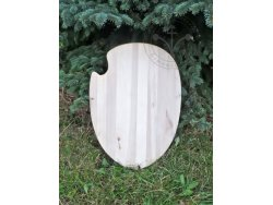 "SD-10 Egg shaped Shield - ""Ekro vom Stern"" 14th cent. - wooden planks"