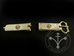 St-12 Buckle and strapend set for 13th cent.
