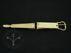 St-27 Buckle and strapend set for 14th-15th cent.