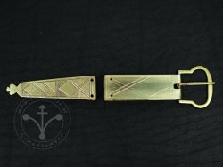 St-28 Buckle and strapend set for 14th-15th cent.