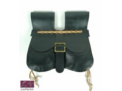 PS-02 Two-panel purse with pouches  14-15th cent. - black